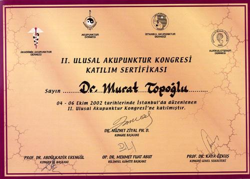 Dr. Murat Topoglu - Diploma 14