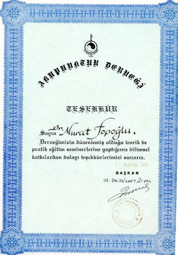Dr. Murat Topoglu - Diploma 16