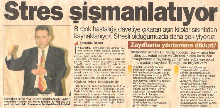 Dr. Murat TOPOĞLU Gazete ve Dergi Haberleri - 11