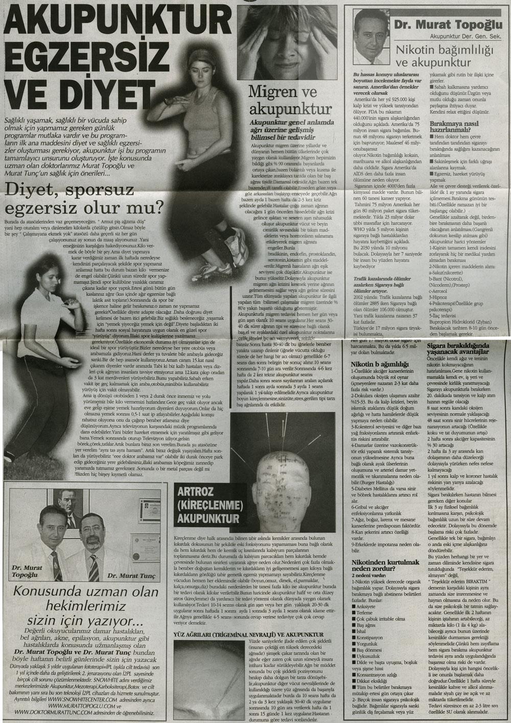 Dr. Murat TOPOĞLU Gazete ve Dergi Haberleri - 31