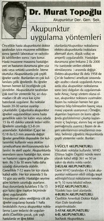 Dr. Murat TOPOĞLU Gazete ve Dergi Haberleri - 40