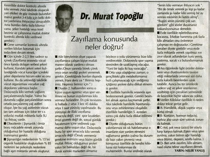 Dr. Murat TOPOĞLU Gazete ve Dergi Haberleri - 45
