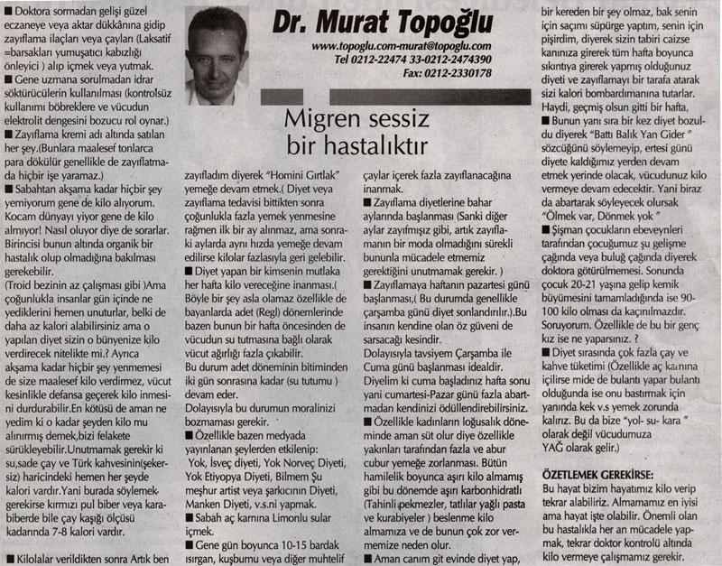 Dr. Murat TOPOĞLU Gazete ve Dergi Haberleri - 47